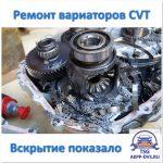 Ремонт вариаторов CVT - Вскрытие показало - Ремонт АКПП в Москве - AKPP-DVS.RU